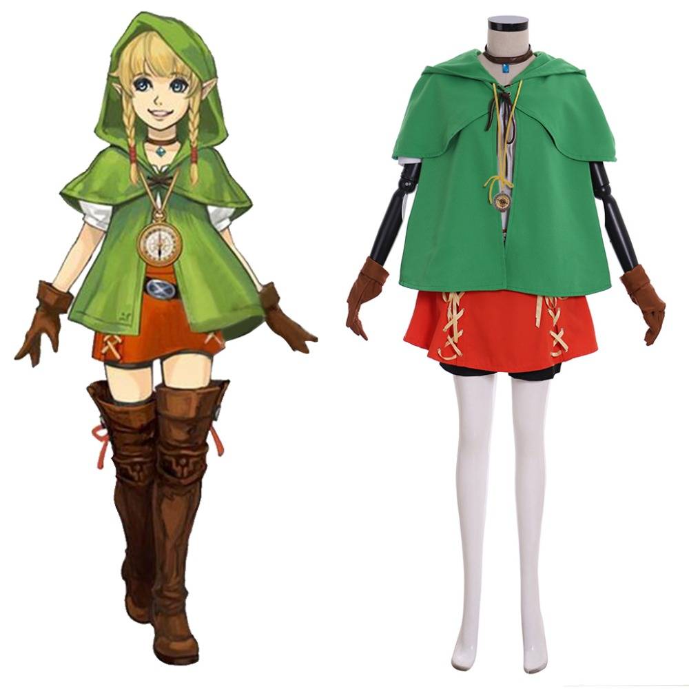 Us 83 7 7 Off Game The Legend Of Zelda Hyrule Warriors All Stars Linkle Cosplay Costume Female Adult Halloween Costume Link Outfit Full Set In Game