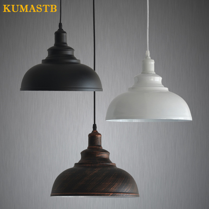 Single Head Pendant Light Bar Balcony Aisle Dinning Room Lamp Industrial Loft Retro Small Iron Light Fixture For Kitchen Dia30cm