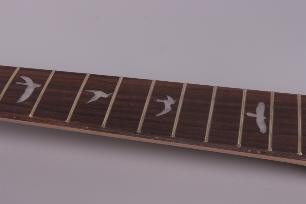 unfinishede electric guitar neck 22 fret Locking nut 628mm 24.75 inch mahogany made and rosewood fingerboard 006# unfinishede electric guitar neck 22 fret locking nut 628mm mahogany made and rosewood fingerboard