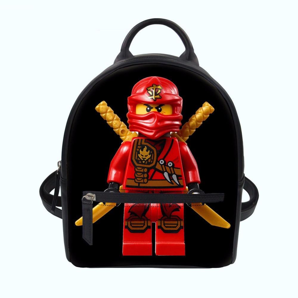 Kids & Baby's Bags Women School Backpack Bag For Teenage Girls Pu Leather Mini Mochila 3d Ninjago Rush Game Prints School Bagpack Drop Shipping Matching In Colour