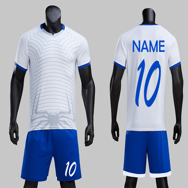 Free Shipping 2018 Design Nets Spider Man Soccer Jerseys Set Can Customized  Soccer Uniforms Football Team Kit White Futbol Suits 9f2f54163