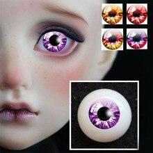 Новые 1 пара DIY акриловые BJD глаза 5 красный фиолетовый серии цвета 14 мм 16 мм 18 мм 20 мм 22 мм давление sd msd BJD глаза 1/3 1/4 кукла 1/6