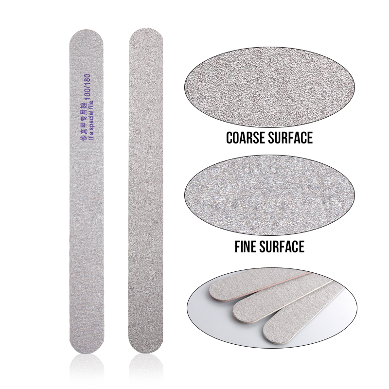 ᐊProfessional Nail Art Double Side Curved Emery Board Grey ...