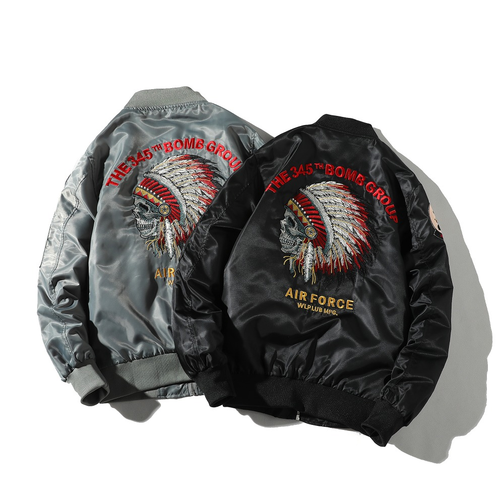 New MA1 Men Jacket Embroidered Outwear Pilot Flight Slim Fit Patch Jackets Autumn Thin Jacket And Winter Warmcoat Motorcycle Jac