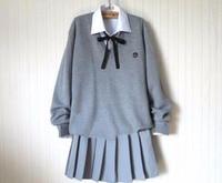 Japanese Anime Kawaii Student School Sailor Uniform Knit Sweater Set Cute Skirt Preppy Style