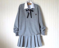 Japanese Anime Kawaii Student School Sailor Uniform Knit Sweater Set Cute Skirt Preppy Style