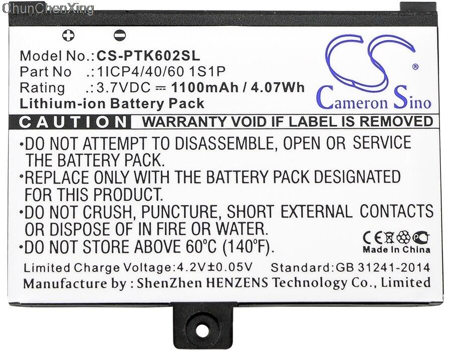 Cameron Sino 1100 mAh batería 1ICP4/40/60 1S1P para cartera Pro 602/603/612/902/903/912/920/920.W