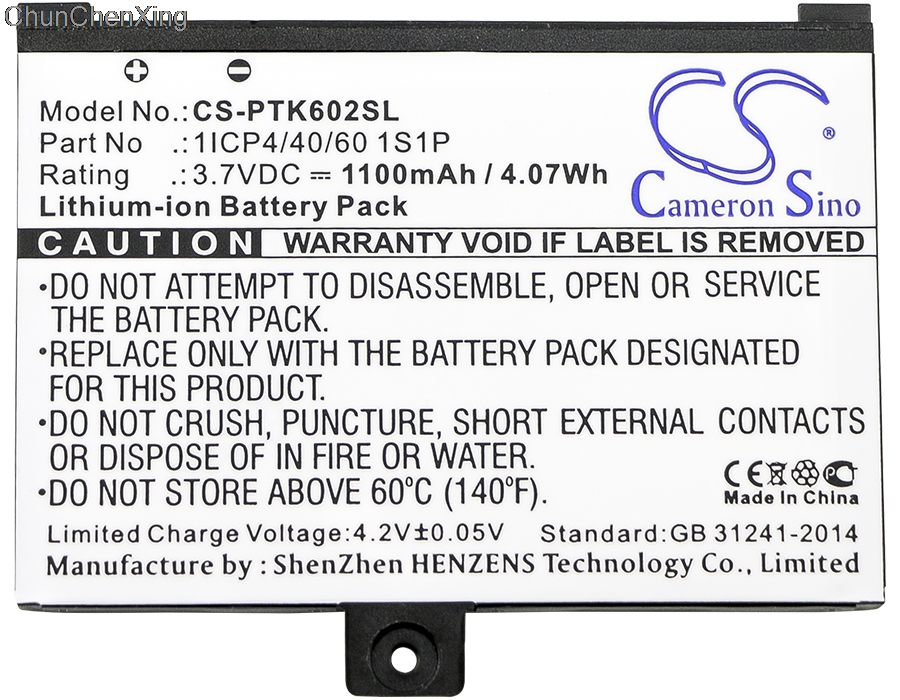 1s1p para Pocketbook Cameron Sino 1100 Mah Bateria 1icp4 e 40 e 60 Pro 602 e 603 e 612 e 902 e 903 e 912 e 920 e 920.w