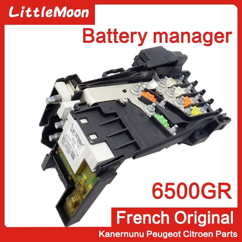 LittleMoon Brand New Genuine Battery manager battery fuse box 6500GR For Peugeot 3008 RCZ 1.6T Citroen C4 Grand Picasso