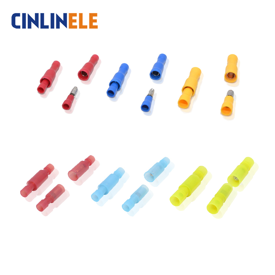 Reasonable Dianqi Mpd+frd 100pcs Bullet Shaped Female Male Insulating Joint Wire Connector Electrical Crimp Terminal Frd+mpd Mpd Frd Connectors & Terminals
