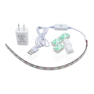 Image 2 - Dropship 2M USB Sewing Machine LED Light Strip Flexible Sewing Lights US/EU/UK Plug with Adhesive Clips