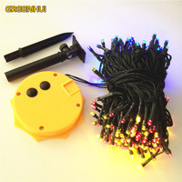 Top Quality Waterproof Sunflower 22m 200 LED Colorful LED Solar Powered Fairy String Lights 8 Modes