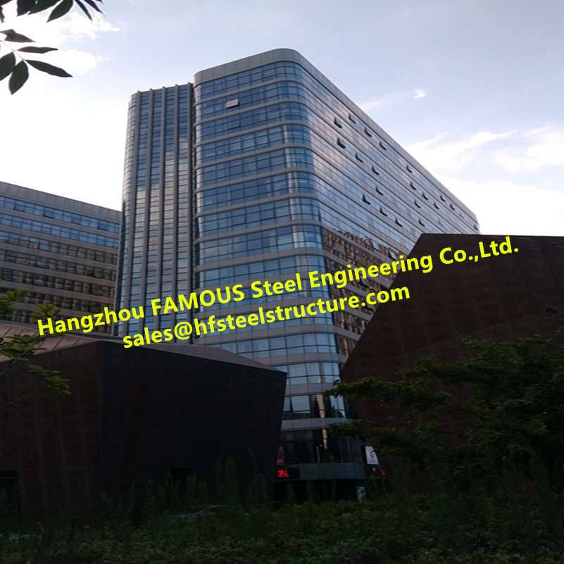Modern  Exterior Facade Glass Curtain Wall Commercial Building Low Reflective Thermal Insulation Invisible Office Building