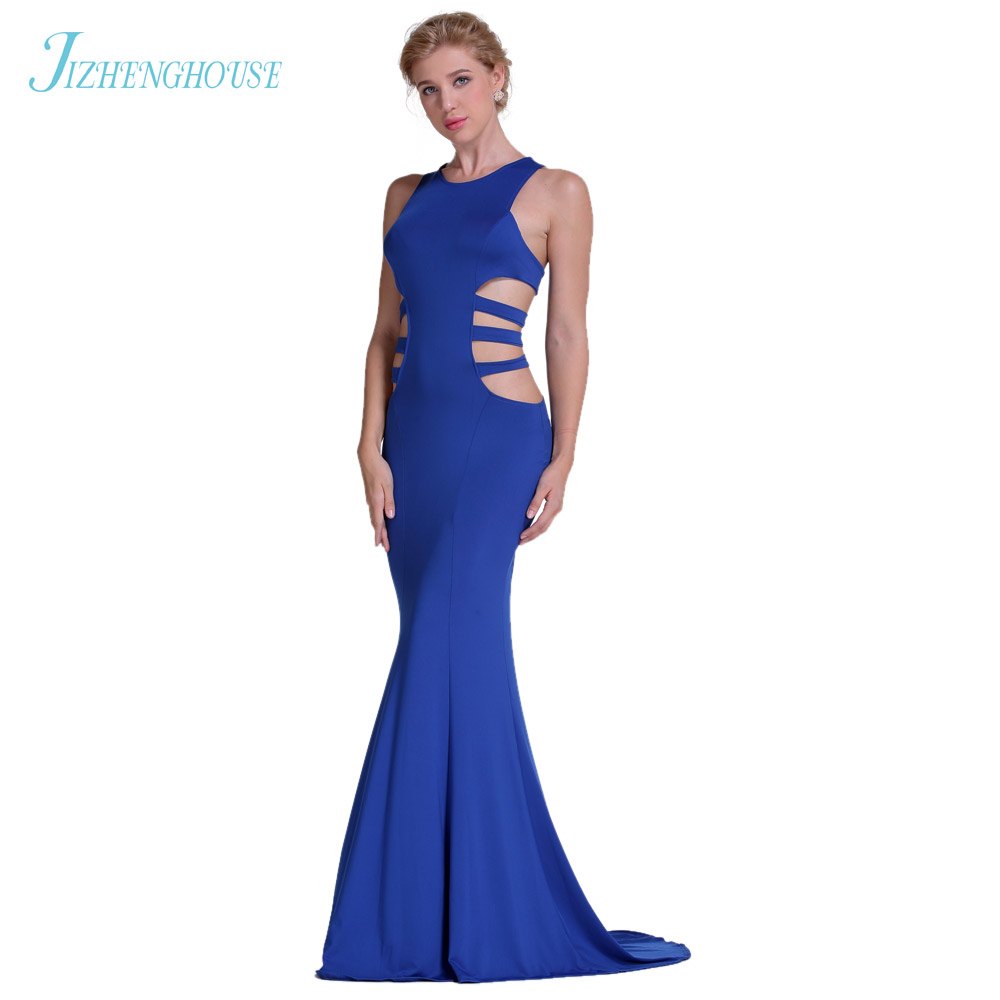 JIZHENGHOUSE Maxi Dress Summer Hollow Trumpet Dress 2017 New Fashion Sexy Sleeveless Long Dresses For Women Clothing
