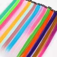Aisi Hair syntetyczne długie pojedynczy klip w jednym kawałku przedłużanie włosów proste włosy włosy dla kobiet