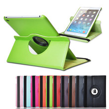 New case cover For Apple iPad 2 iPad 3 iPad 4 Pu Leather Flip Case Smart Stand 360 Rotating Tablet Case Cover Bag