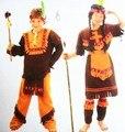 Хэллоуин Карнавал Партия Косплей Костюмы Американских Индейцев Принц Костюмы Солдат Воин Дети Костюм Мальчик И Девочка