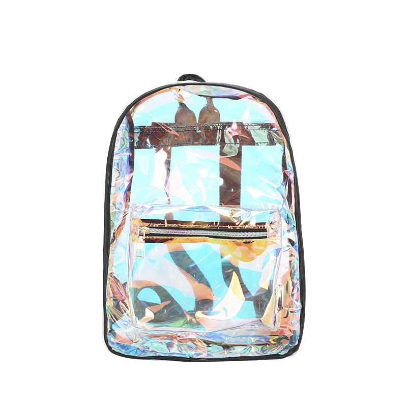 Miyahouse Korean Style Laser Women's Backpack Transparent Shiny PVC Female's Rucksack Clear Plastic Daily School Bag For Girls
