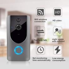 Дверной звонок wifi беспроводной дверной звонок умный маломощный видео дверной звонок Мобильный телефон Удаленный видеодомофон мониторинг