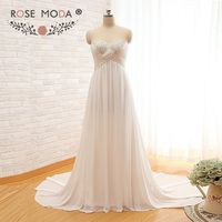 Rose Moda Voan Boho Wedding Dress Empire Thai Sản Wedding Dresses cho Mùa Hè