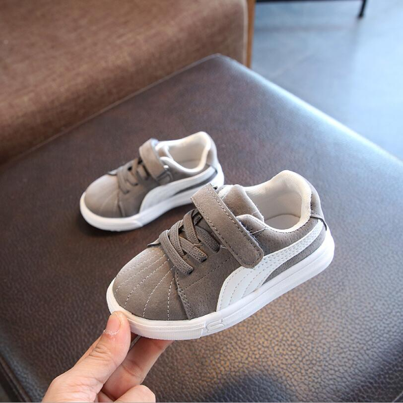 Spring Autumn Baby Boy Girls Canvas Casual Shoes Children Flat Sports Shoes Kids Non-slip Fashion Sneakers Size 21-30