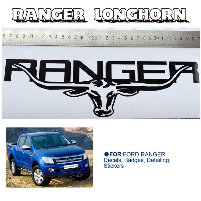Auto Aufkleber 1 Pc Lkw Abzeichen Longhorn 300mm 900mm Grafik Vinyls Aufkleber Benutzerdefinierte Für Ford Ranger 2012 Auf