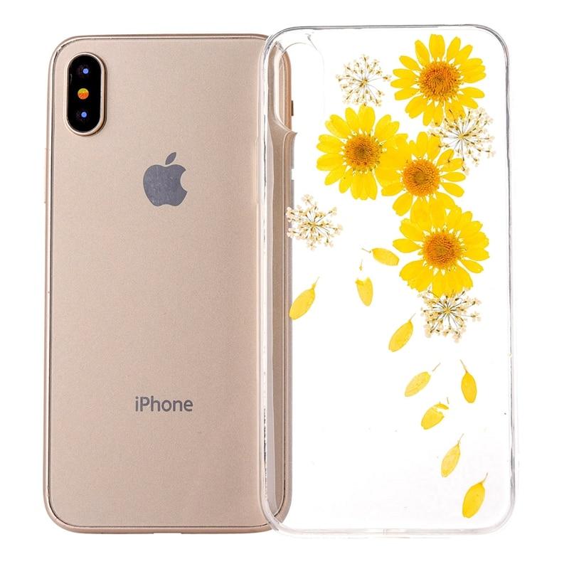 HOTR za iphone X ovitek modna suha rožica iz mehkega TPU ovitka za - Dodatki in nadomestni deli za mobilne telefone