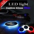 6 pcs 82mm Azul branco auto lâmpada emblema adesivo de Carro LED traseiro do emblema luz decorativa LEVOU logo luz para X1, X3, X5, X6, E90, E60, E46