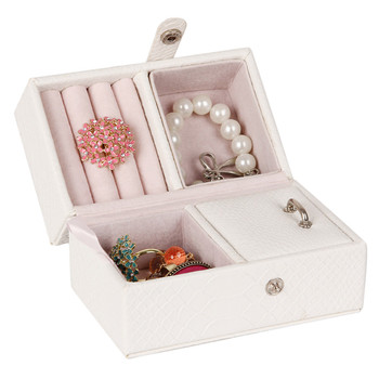 White Large Jewelry Storage Boxes For Girls Rings Organizer Travel Case Bracelets Watch Earring Display