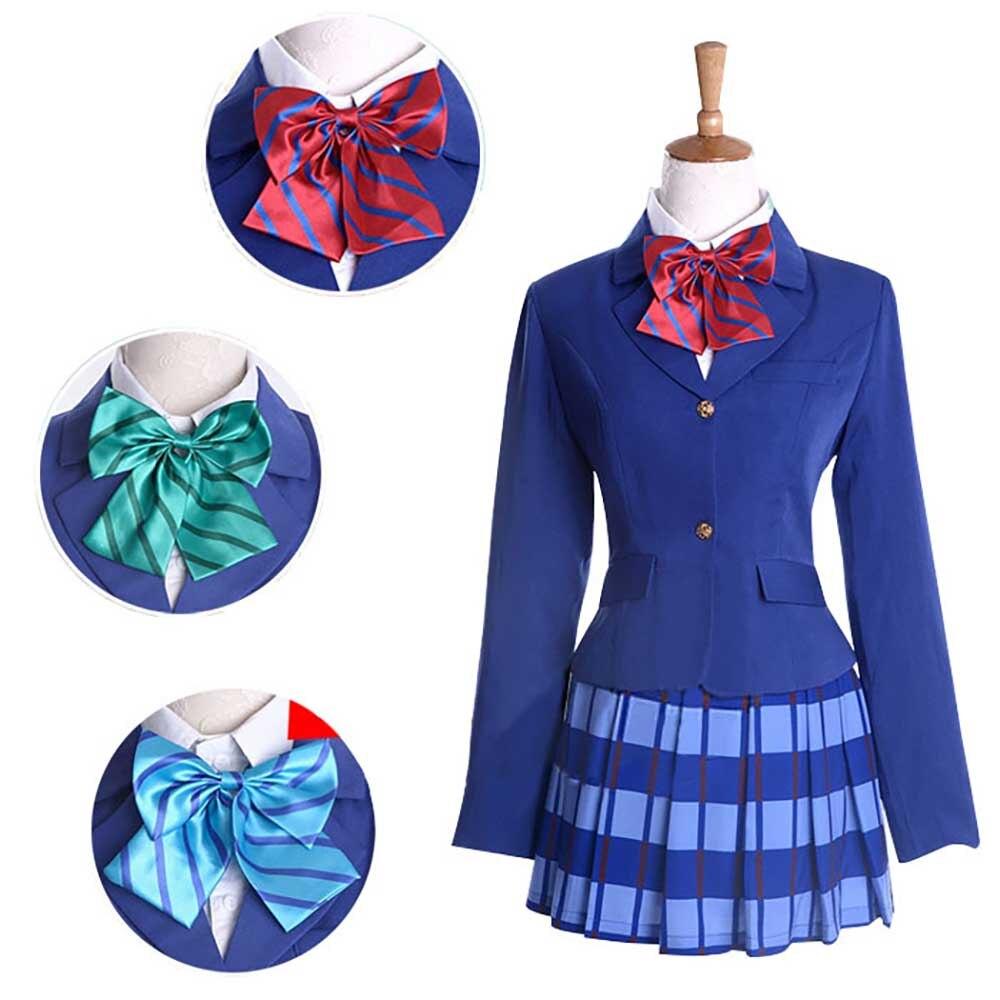 Love Live Cosplay Costume Japanese School Girl  Kotori Minami Nozomi Tojo Cosplay Oufit Otonokizaka Academy School Uniform