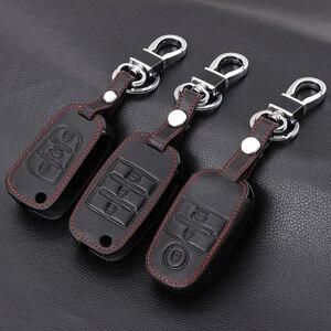 Image 1 - Funda de cuero genuino para llave, cubierta para llave para Kia KX3 KX5 K3S RIO 4 Ceed Cerato Optima K5 Sportage Soul Sorento, estilismo para coche
