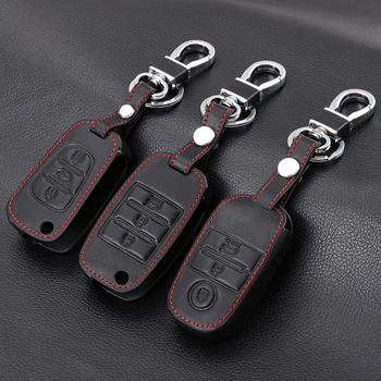 Oryginalne skórzane etui na klucze futerał na klucze klucz pokrowiec do kia KX3 KX5 K3S RIO RIO 4 Ceed Cerato Optima K5 Sportage Soul Sorento Car Styling tanie i dobre opinie VCiiC Górna warstwa skóry