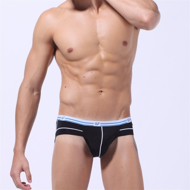 Men Underwear briefs sexy Low Rise ice silk Stretch brief comfortable breathable in summer style gay underwear