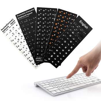 Waterproof Spanish/English/Russian/French Keyboard Stickers Deutsch/Arabic/Korean/Japanese/Hebrew/Thai Keyboard Layout