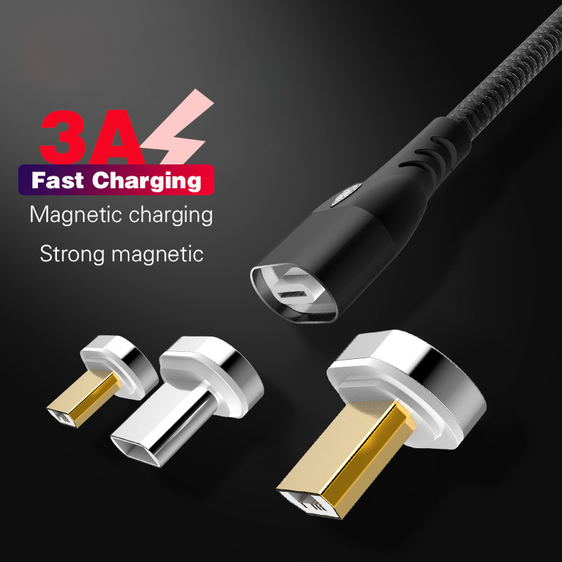 Magnetic Micro <font><b>USB</b></font> Cable For iPhone Samsung Type-c 3A Fast Charging Charge Magnet <font><b>Charger</b></font> Adapter <font><b>USB</b></font> Type C Mobile Phone Cables image