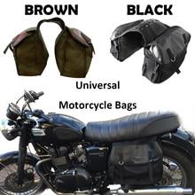 Motorcycle Bag Kit Knight Rider motorcycle saddle bag Brown color for Yamaha for BMW for Kawasaki for Ducati Motorcycle Parts недорого