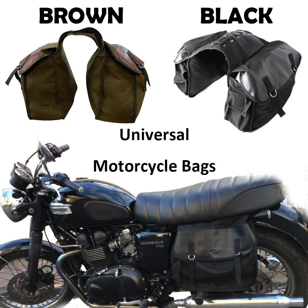 Motorcycle bag Kit Knight Rider Brown Black saddleBags for Triumph for Harley Sportster XL883 XL1200 for Ducati Motorcycle Parts motorcycle parts black deep cut finned derby timing timer cover for harley davidson sportster xl883 xl1200