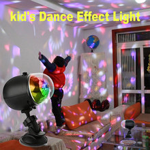 Mini RGB LED Stage Light  Magic Crystal Ball Rotating Party DJ USB Rechargeable Car Interior party Effect