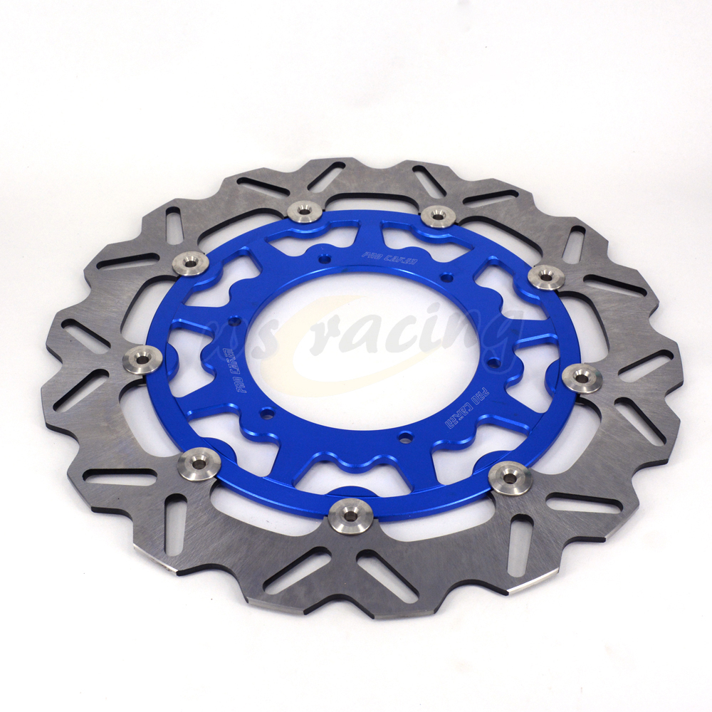 CNC 320MM Motorcycle Front Floating Brake Disc Rotor For YAMAHA YZ250 WR250 YZ250F WR250F WR426F YZ426F WR450F YZ450F high quality 270mm oversize front mx brake disc rotor for yamaha yz125 yz250 yz250f yz450f motorbike front mx brake disc