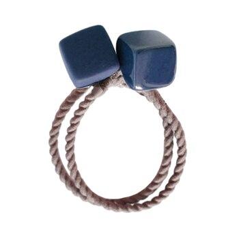 Nuevo cabrito Hairband 3D acrílico cuadrado pelo bandas cuerdas lazos  elásticos del sostenedor del Ponytail venda del pelo de las muchachas lazo  mujeres ... 615f2c0d2378