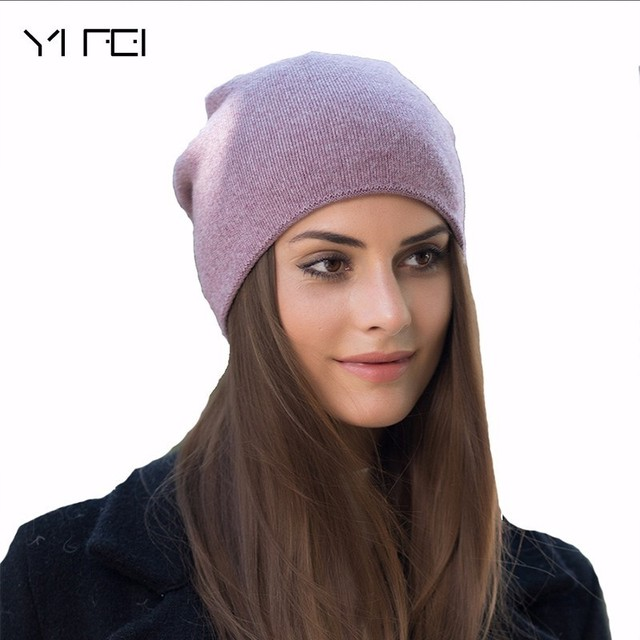 2018 Women s Winter Hat Knitted 100%Wool Beanie Female Fashion Skullies  Casual Outdoor Mask Ski 2016dfdb060a