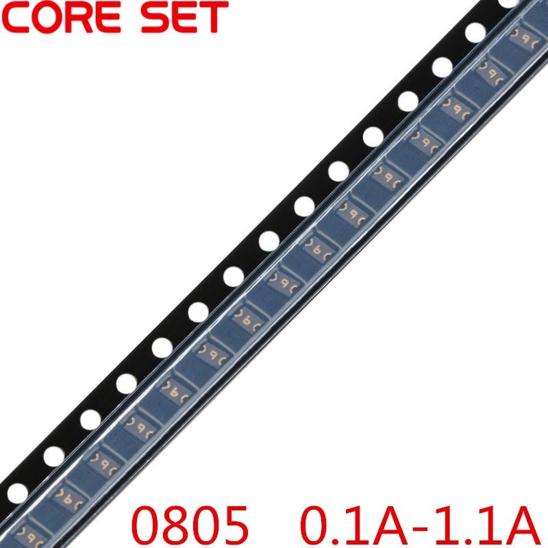 50PCS/Lot 0805 0.1A/0.2A/0.35A/0.5A/0.75A/1.1A SMT SMD Resettable Fuse PPTC PolySwitch Self-Recovery Fuses 50pcs 1206 2a 2000ma polyswitch smt smd resettable fuse