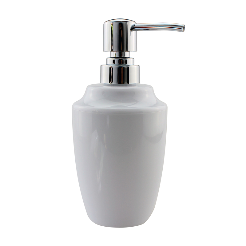 Acrylic Soap And Lotion Dispenser Pump Kitchen Or Bathroom Countertops Clear Chrome 12 Oz White