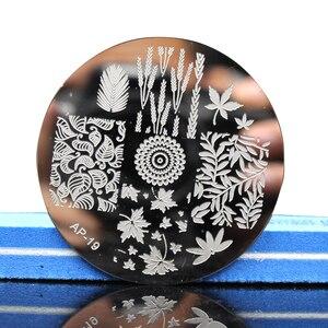 Image 2 - Pandox AP19 Leaves Theme Nail Art Stamp Template Image Plates Nail Stencil Disk