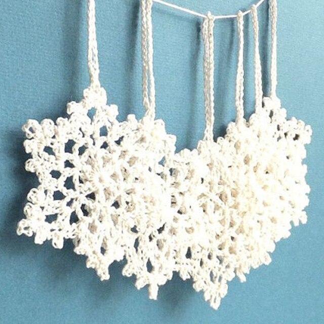 Hakeln Schneeflocken Christbaumschmuck Weiss Urlaub Ornamente Urlaub