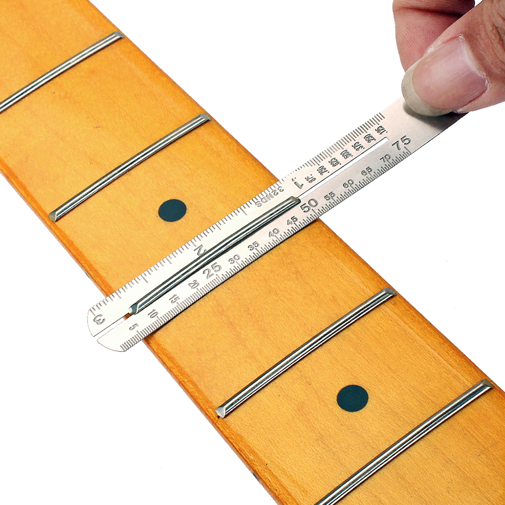 Guitar Fret Fretboard Protector Guards Repair Tools Tone Capacitor Measurer Steel Plate For Electric Guitar Bass Parts Accessor