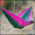 Free shipping High Quality Double Person Portable Parachute Nylon Fabric Hammock Outdoor Camping Travel Hammock in stock