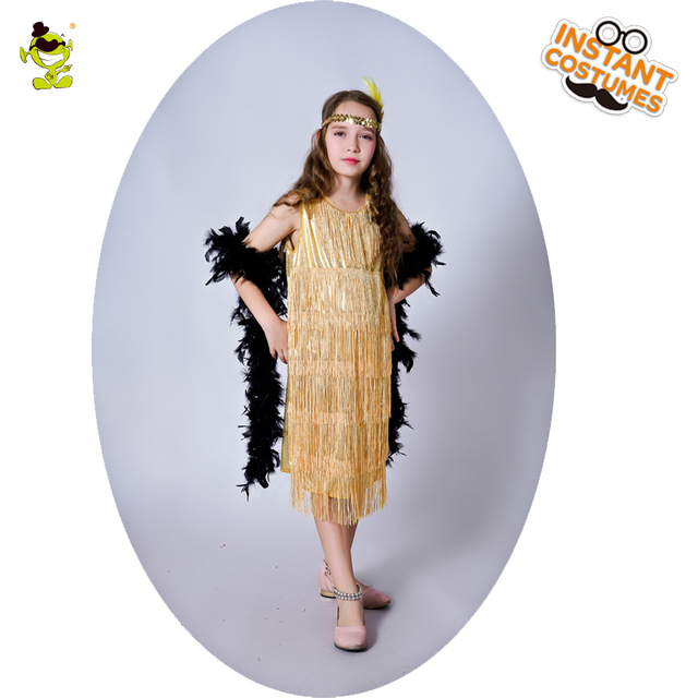 90c7bf007 QLQ Girls Flapper Costume Masquerade Halloween Party Cosplay Costume ...