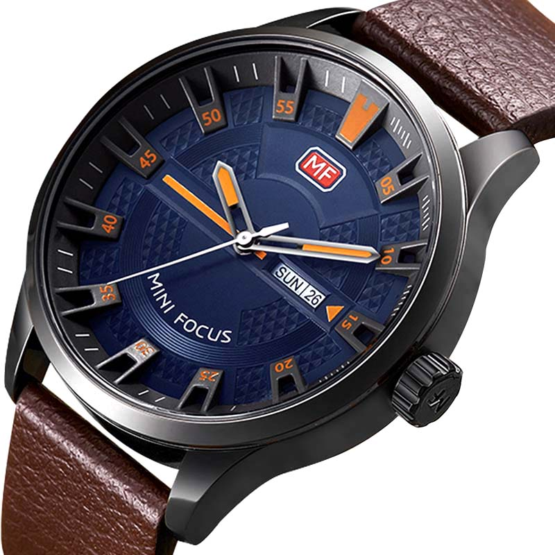 Relogio Masculino Mens Watches Top Brand Luxury Leather Fashion Casual Sport Clock Quartz Watch Men Military Wristwatches