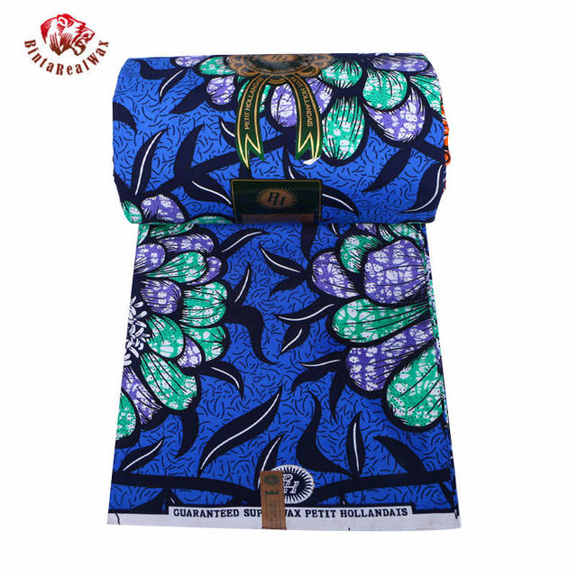 Wax Hollandais New Arrival  2018 Ankara Super Polyester Wax High Quality 6 yards  African Fabric for Party Dress pl569 2